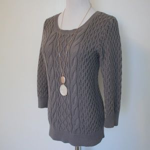 ANN TAYLOR LOFT Size XS Knitted Sweater Gray